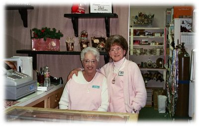 Volunteers in gift shop
