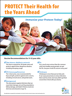Protect Their Health For Years Ahead Preteen Flyer 1/13